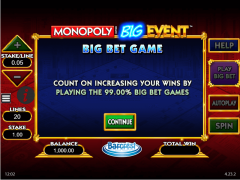 Monopoly Big Event slots77.net William Hill Interactive 1/5